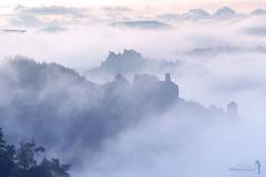 Nebelwelten (Rico Richter) Tags: feldsteine rathen bad schandau sächsische schweiz saxony switzerland landscape sunset fog mystic sandsteinfelsen elbsandsteingebirge