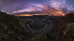 Hershey's Kiss Bend (Pano) (Mark Metternich) Tags: grassland grasslands horseshoe gooseneck oregon desert sunset vista epic river gorge moon markmetternich markmetternichcom workshops workshop tours tour panorama