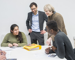 PM visit to King's College London Maths School (The Prime Minister's Office) Tags: jayallen primeminister theresamay downingstreet no10 math school physics education schools