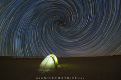 VortexSpiralStarTrails-Edit-1 (Mike Ver Sprill - Milky Way Mike) Tags: vortex spiral star trails startrails stars trail tent camping camp light lit up long exposure composit north polaris composite night sky nightscape landscape sand beach assateague island maryland