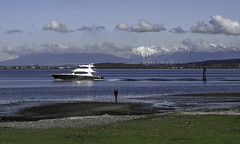 The Lions (Tony Tomlin) Tags: crescentbeach bc mountains lions boats yacht beach