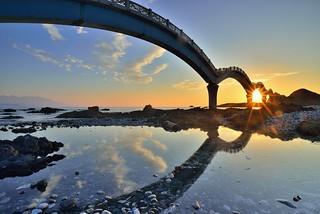 三仙台八拱橋~日出晨彩~ Sansiantai(Terrace of the three Immortals)Sunrise