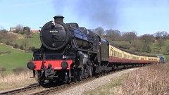 LMS Black Five No.44806 southbound through Esk Valley [NYMR] on 25th March 2017 (soberhill) Tags: nymr northyorkshiremoorsrailway 2017 train railway steam locomotive grosmont pickering eskvalley lms blackfive black5 44806