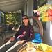 K on porch at Latte Da