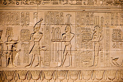 Gods at Dendera (mikeriddle1984) Tags: adventure architecture dendera egypt history luxor nile religion temple travel carving hieroglyphics stone king pharaoh rameses