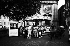 Carousel (MaxDeVa) Tags: carousel giostra streetphotography blackandwhite reggioemilia ricohgr