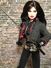 Night Warrior Vanessa Perrin (oasis2609) Tags: night warrior vanessa perrin fashion royalty integrity toys wclub van helsing badlands vampire hunter dark knight raven japan dollystyle gothic