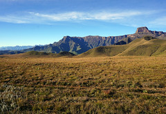 The Amphitheater and Sentinel Peak - Drakensberg Mountains South Africa (Julia Kostecka) Tags: drakensbergmountains drakensbergescarpment geology rockformations sentinelpeaktrail tugelafalls chainladdertrail hiking amphitheater waterfall southafrica royalnatalnationalpark