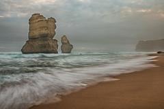 Late afternoon gloom (Howard Ferrier) Tags: australia beach cliff clouds coast gibsonsteps gibsonssteps hdr haze island landmass mist ocean oceania portcampbellnp southernocean southwest stack twelveapostles victoria waves princetown