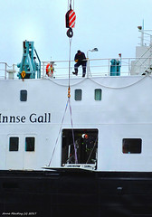 Scotland Greenock the ship repair dock car ferry Hebrides men working on a passenger entry 28 March 2018 by Anne MacKay (Anne MacKay images of interest & wonder) Tags: scotland greenock ship repair dock caledonian macbrayne car ferry hebrides men working passenger entry xs1 28 march 2018 picture by anne mackay