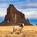Shiprock and the Lone Horse