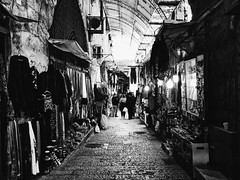 Jerusalem Alley #2 (Starbucker973) Tags: alley vscocam vsco israel jerusalem iphone blackandwhite