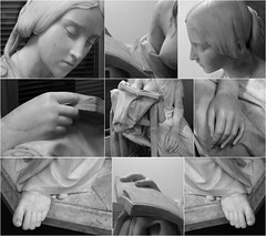 Details, The Reading Girl, University of Birmingham (alanhitchcock49) Tags: the reading girl by pietro magni 18161877 room cadbury research library muirhead tower university of birmingham sculpture trail april 2017 toes fingers hands feet breast head book