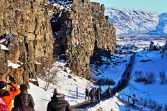 Thingvellir (Albert Jafar) Tags: thingvellirnationalpark althing iceland outdoor snow almannagjagorge gorge mountain photographerswharf ngc worldtrekker fantasticnature people