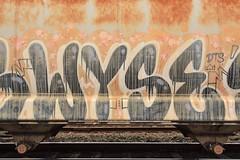 WYSE (TheGraffitiHunters) Tags: graffiti graff spray paint street art colorful freight train tracks benching benched wyse hopper