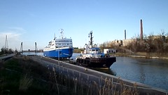 Towing of Le Marc(formerly Camille Marcoux) (logan007) Tags: camillemarcoux ferry lemarc wellandcanal stcatharines ontario canada tugboats towing loism jarrettm