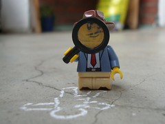 Crime 1/3 (captain_joe) Tags: toy spielzeug 365toyproject lego minifigure minifig detective acebrickman macromondays crime