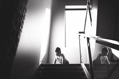 Being Bennett... (Jennifer Blakeley) Tags: boy windowlight window stairway portrait glowing dreamy dramatic contrast child reflection playing explore lines