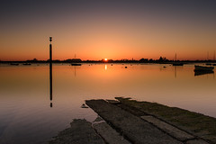 Time and Tide Wait For No Man (Sunset Snapper) Tags: timeandtidewaitfornoman sunset bosham westsussex southcoast creek slipway post boats tide seascape sunbeam filter lee nd grad nikon d810 2470mm risingtide tranquil peaceful april 2017 sunsetsnapper