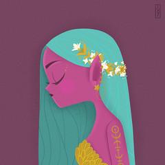 Cutie (Ivy Nunes) Tags: fairy fairytale cute cutie color flower flowers flores flor girl draw drawning illustration illustrazione illustrator ilustracion ilustração ilustra desenho rabisco