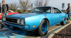 Wake Forest Cars & Coffee March 2017 (osubuckialum) Tags: 2017 cars carshow show cruise carscoffee march wakeforest nc northcarolina 1969 69 dodge charger blue 500 rare muscle musclecar