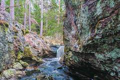 The small waterfall/ Bekkefossen (Bjorn-Erik Skjoren) Tags: oppsjø landscape waterfall forest water stream smallwaterfall hdr lake landskap iceage ice