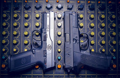 Love is Love, Love (SBSTNC Photography) Tags: guns pistol fn fn9 fns9 9mm mixer mixingboard records