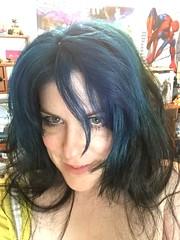 Highlight (thetab3) Tags: messyhair eyeliner bluehair posters videogames