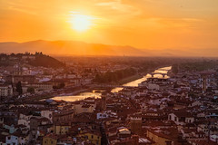 all the golds of Florence (cherryspicks (on/off)) Tags: florence italy sunset panorama cityscape goldenhour arno river light view wow