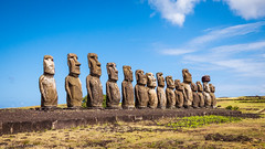 The Fifteen Moai (Lee Edwin Coursey) Tags: chile 2017 travel island easterisland southamerica polynesia rapanui pacific