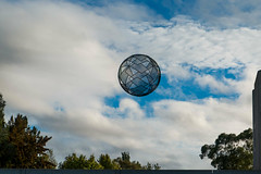 Sculpture at National Gallery (Andy Peyton) Tags: national gallery canberra scupture globe suspended sky