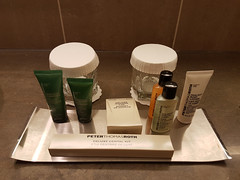 Hilton London Tower Bridge hotel (jane_sanders) Tags: london hiltonlondontowerbridge hilton hotel morelondon tooleystreet room deluxeplus bathroom toiletries shampoo conditionr showercap showergel mouthwash bodylotion deluxedentalkit toothbrush toothpaste glass