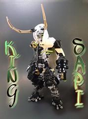 "King Sapi ""Ox King"" (MocManSmitty) Tags: lego bionicle 2017 ccbs herofactory selfmocs mocs mocmansmitty biogram oxking kingsapi"