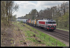 CT 1618 + DBC 6493 + 6402 + 6404 - 47614 (Spoorpunt.nl) Tags: 8 april 2017 captrain 1618 db cargo rail polska polen 6493 6402 6404 47614 transport locomotief overbrenging apeldoorn stamlijn van gelder papier fabriek