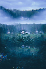 House on the Hill (freyavev) Tags: house green greenery filter cokinfilter combinedfilters experiment germany deutschland triebes thüringen thuringia vsco canon canon700d atmospheric ghostly moody prismeffect vertical