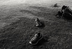 I just shoes. (silmihidayat) Tags: blackandwhite black white shoes shadow iphone iphone4 kids indonesia amateurs photograhpy abstract
