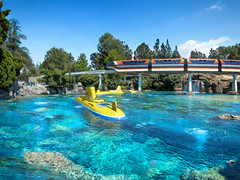 Submarine and Monorail (the_tahoe_guy) Tags: tourism disney travel famous city grand kids magic logo living fun joy friendly dream disneyland entertainment family park mickey carousel landmark history historical beautiful attraction amusement port sea monorail submarine
