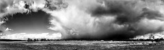 Epic Clouds (Gregor Winter) Tags: epic epiclouds pano panorama black white bw iphone 6s plus storm thunderstorm weather wolken sturm landschaften wetter episch