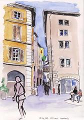 55ème ww SKCL - Chambéry (m.JaKar) Tags: croquis carnetdevoyage chambéry dessinurbain france insitu sketchcrawl usk urbansketchers vieilleville