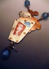 Cloud Watcher (alnbcollections2) Tags: alnbcollections allisonlnorfleetbruenger alnbcollectionscopperjewelry alnbcollectionsjewelry sterlingsilver silver silverfretwork recycledglasscopperjewelryalnbcollectionsnecklace rivet riveted agate drawing coloredpencil