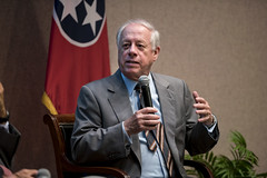 4/18/2017 Governor Bill Haslam and former Governor Phil Bredesen participate in an Education forum at a SCORE Committee meeting