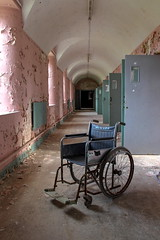 Asylum (k_a_t_i_a) Tags: urbex ue urbanexploration ruin derelict decay disused medical mentalhospital asylum abandoned abandonedplaces architecture wheelchair explore europe dark death doctor door corridor creepy eerie anatomy medicine hospital beds beautyindecay books science