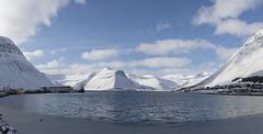 Iceland (richard.mcmanus.) Tags: iceland isafjordur westfjords landscape mountains panorama snow winter sea fjord mcmanus arctic
