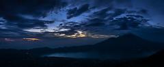 Blue dawn (Mantere) Tags: bali indonesia lake batur mountain mt agung mtagung mtbatur blue dawn sunrise morning early sun water
