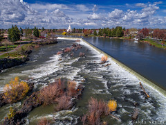 From A Distance (James Neeley) Tags: idahofalls ldstemple mormontemple snakeriver aerialphotography jamesneeley