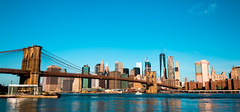 The Brooklyn Bridge and the city of New York. (The city guy ☺) Tags: brooklynbridge walking waterways walkingaround colors city cityscapes outdoors bridge blue exploration urban urbanexploration