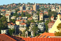 55-200mm lens - Milsons Point eastside - North Sydney urban city view late afternoon (6016) (nicephotog) Tags: milsons point north sydney urban city view afternoon suburban cityscape homes hill living multilevel scenery houses