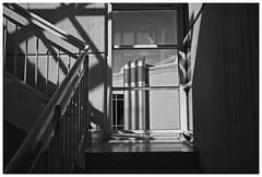 Three Tubes (RadarO´Reilly) Tags: tubes rohre schatten shadows treppe stairs sw schwarzweis bw blackwhite monochrome noiretblanc blanconegro zwartwit architektur architecture dasa dortmund nrw