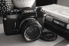 Canon F-1 (jcbkk1956) Tags: canon f1 analog slr camera 35mm film fd 50mmf14 manualfocus nikon d3300 nikkor1870mmf3545 black