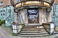 Disused Art Deco Building, Leeds, UK, jcw1967, OPE, Zodiak-8 (3) (jcw1967) Tags: leeds architecture historical artdeco deco buildings uk hdr oloneo ope
